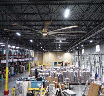 Ashley Furniture LED Lighting inside Distribution Center