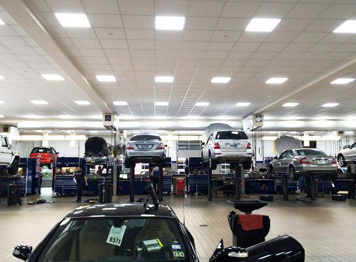 LED Lighting Mercedes Car Service